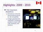 highlights 2009 20104