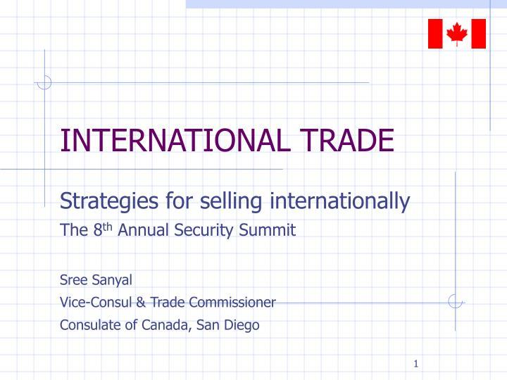 international trade n.