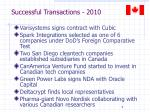 successful transactions 2010