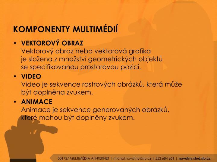 KOMPONENTY MULTIMÉDIÍ