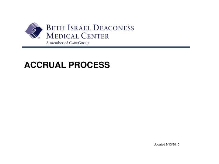 accrual process n.