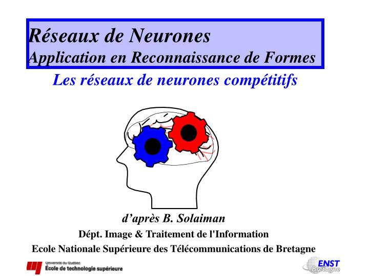 R seaux de neurones application en reconnaissance de formes