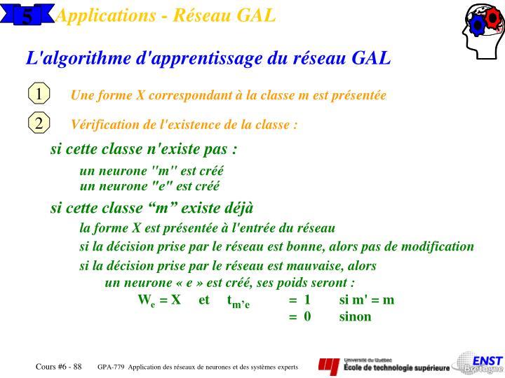 Applications - Réseau GAL