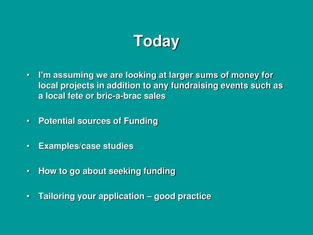 PPT - Funding Opportunities for Local Projects PowerPoint