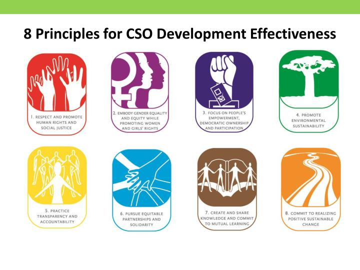 8 Principles for CSO Development Effectiveness