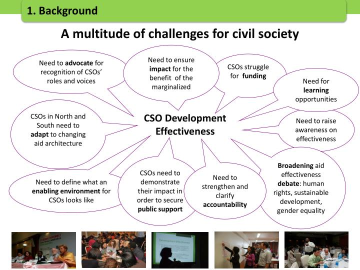 A multitude of challenges for civil society