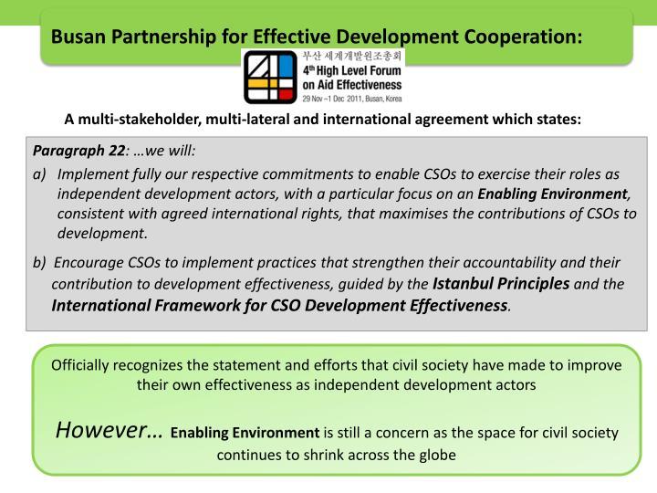 Busan Partnership for Effective Development Cooperation: