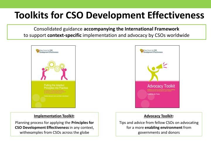 Toolkits for CSO Development Effectiveness