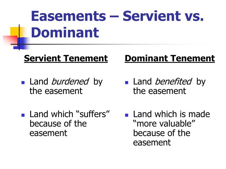 Servient Tenement