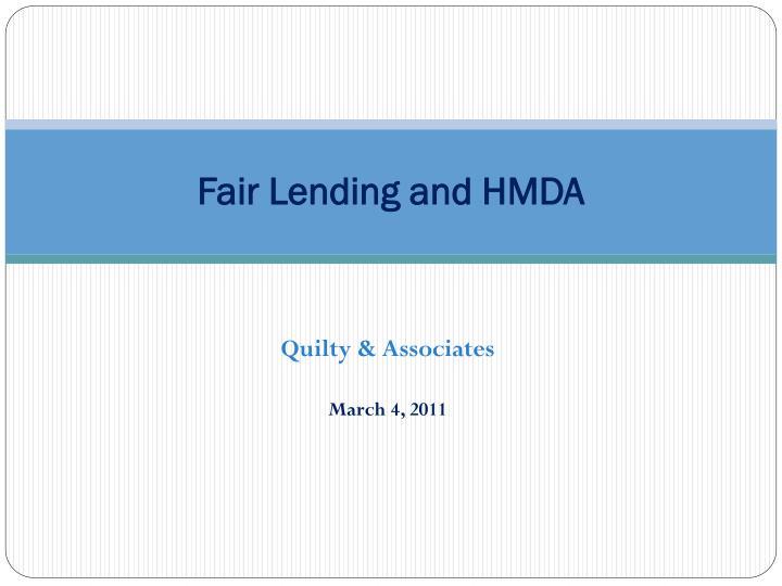 fair lending and hmda n.