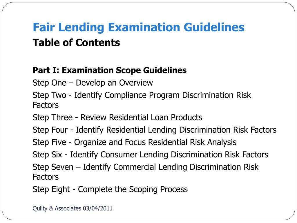 PPT - Fair Lending and HMDA PowerPoint Presentation - ID:3540909