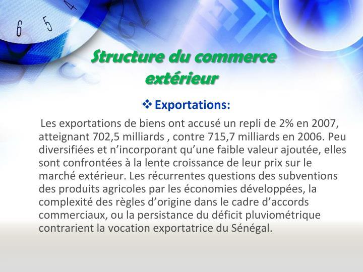 Structure du commerce extérieur