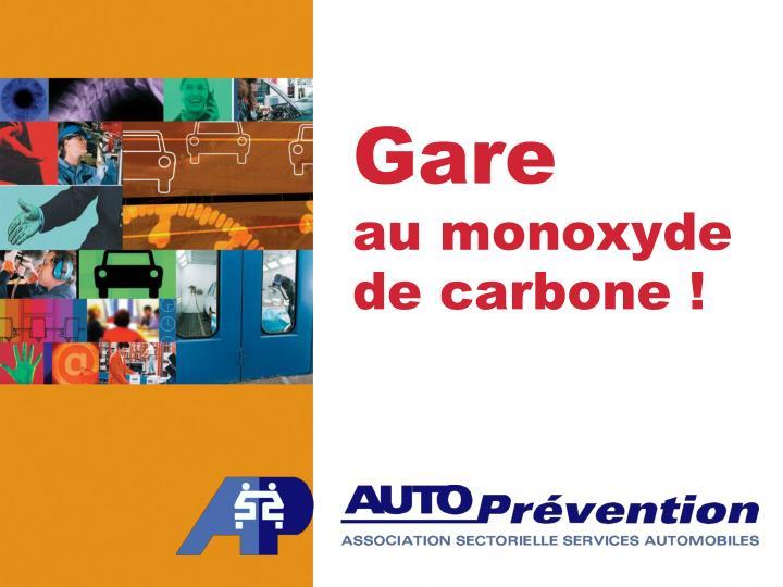 Gare au monoxyde de carbone