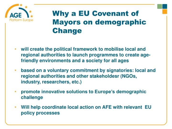 Why a EU Covenant of Mayors on demographic Change