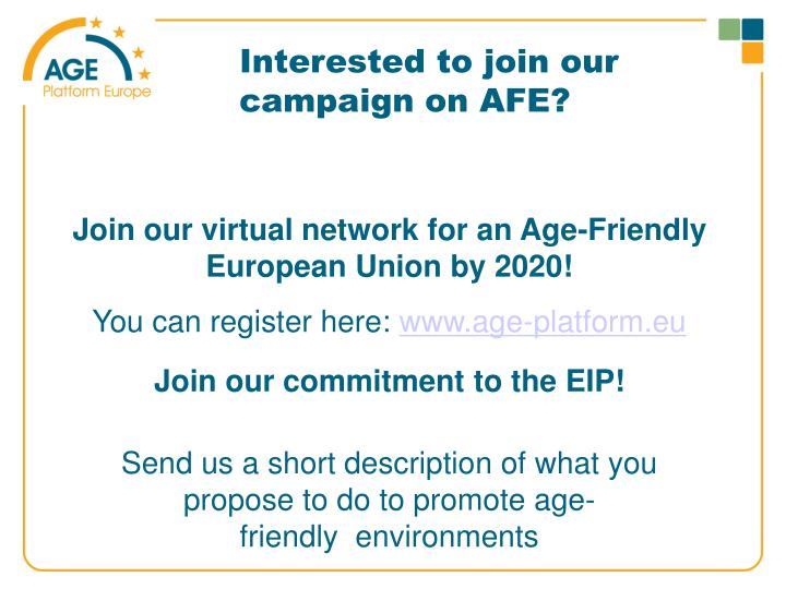 Interested to join our campaign on AFE?