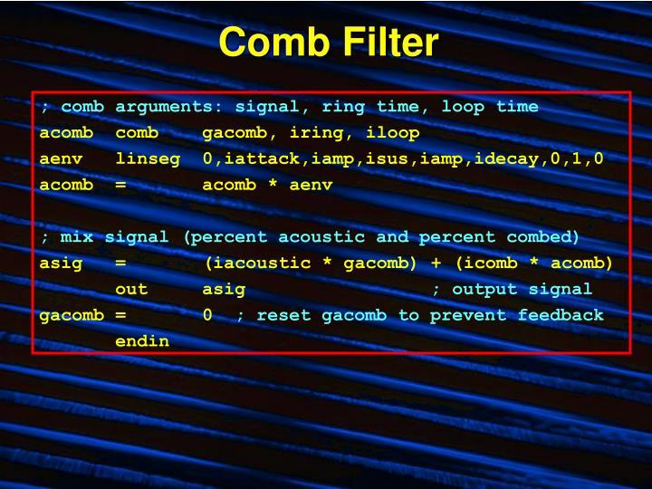 Comb Filter