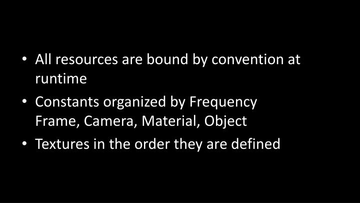 All resources are bound by convention at