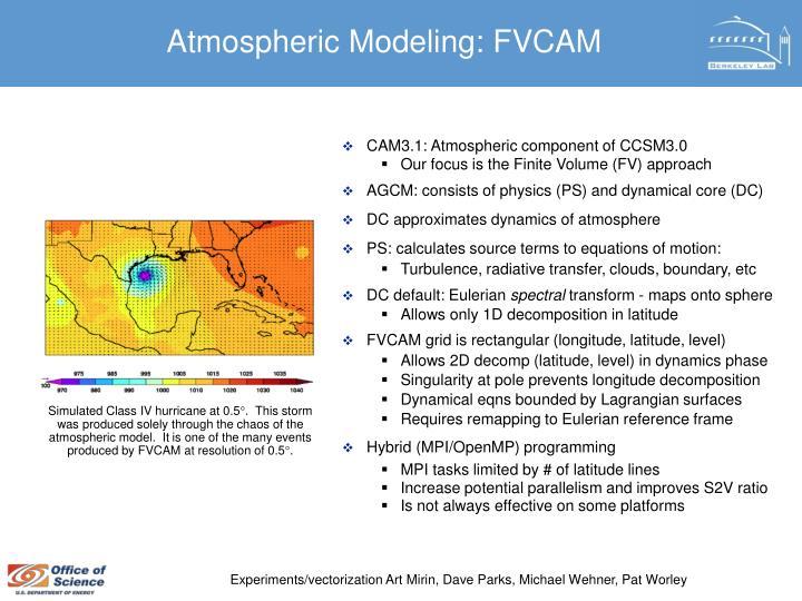 Atmospheric Modeling: FVCAM