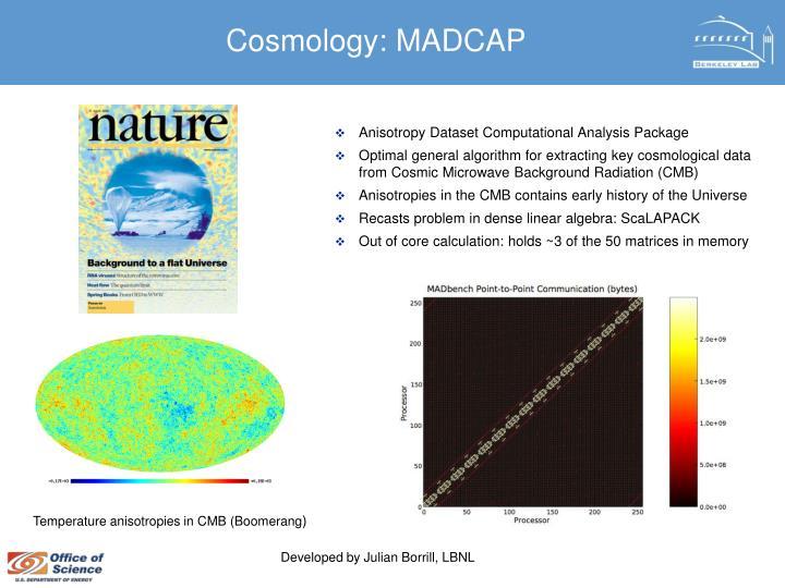 Cosmology: MADCAP