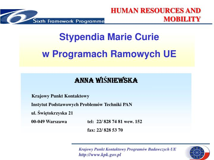 human resources and mobility n.