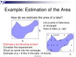 example estimation of the area