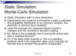 static simulation monte carlo simulation