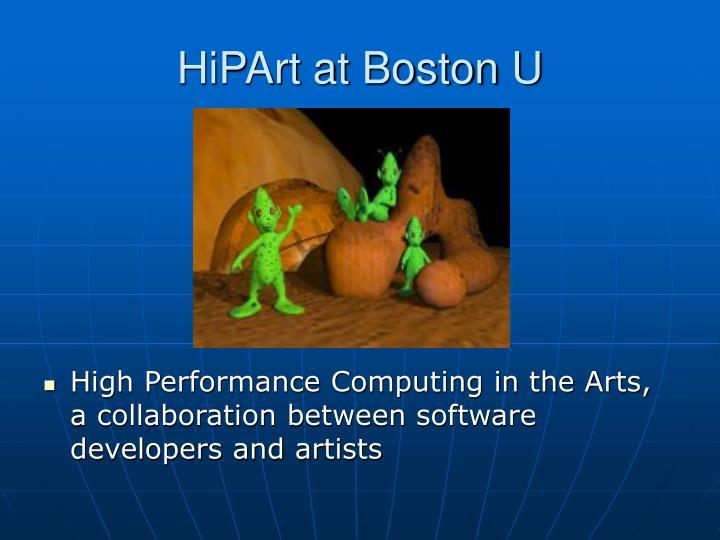 HiPArt at Boston U