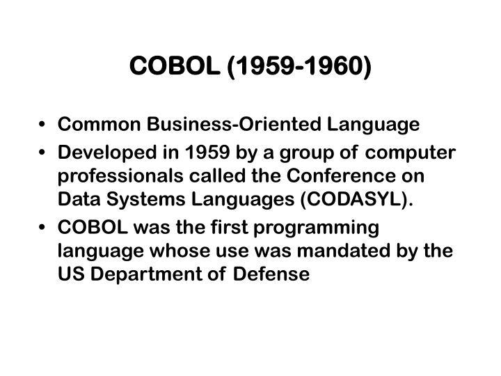 COBOL (1959-1960)