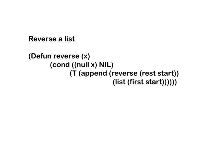Reverse a list