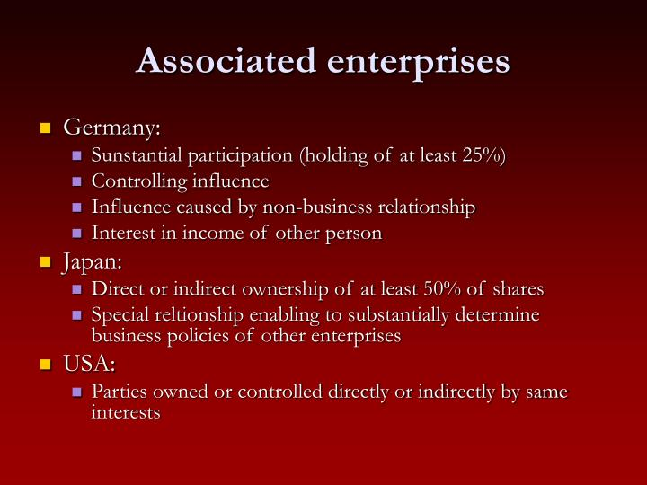 Associated enterprises