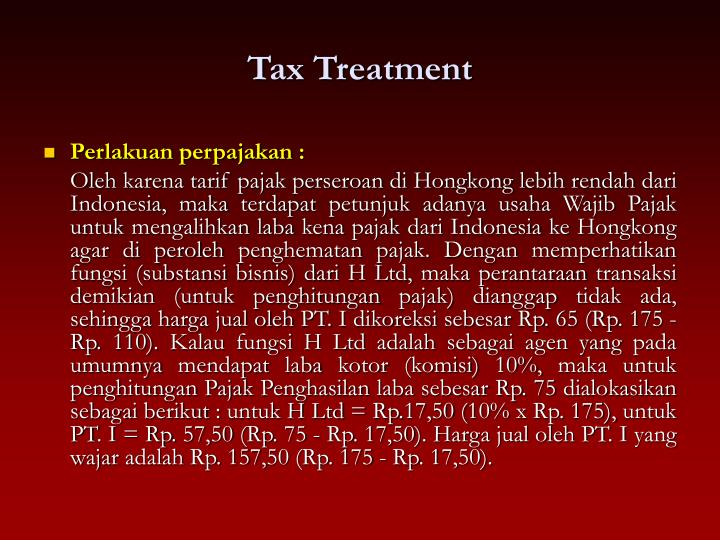 Tax Treatment
