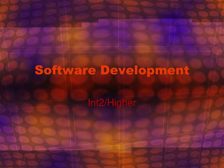 software development n.