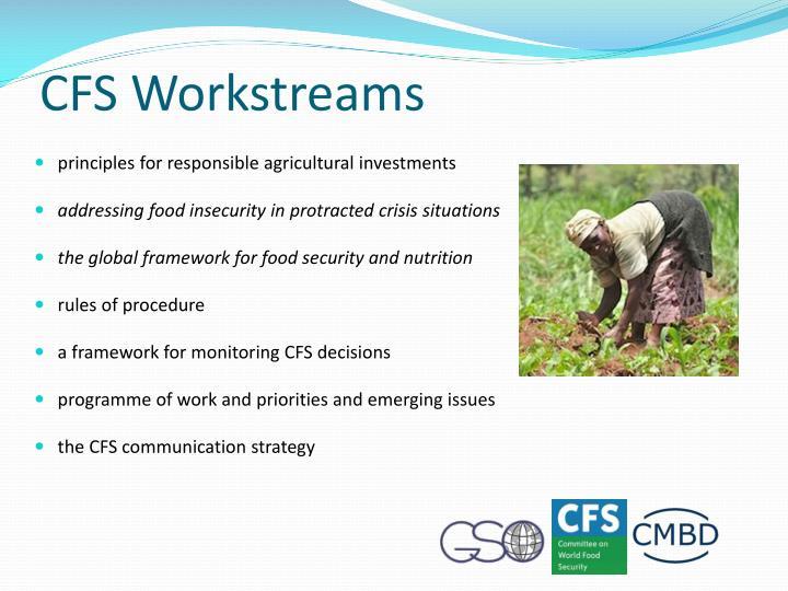 CFS Workstreams