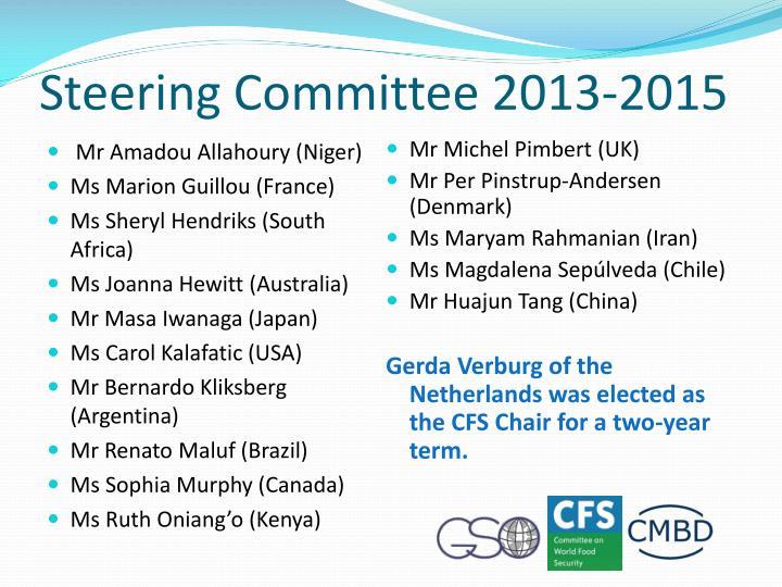 Steering Committee 2013-2015