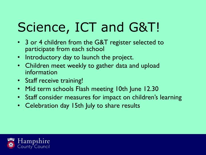 Science ict and g t