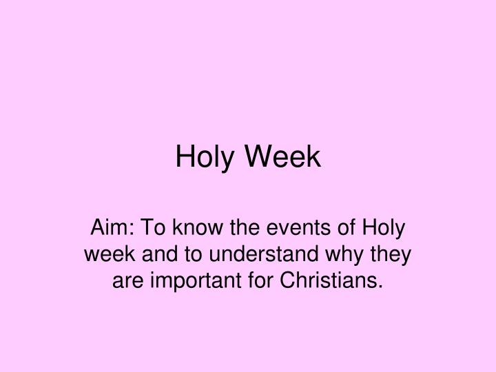 holy week n.