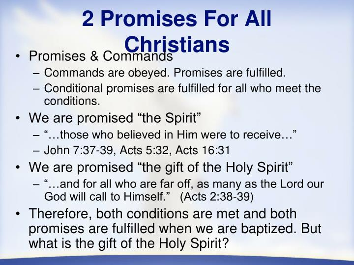 2 Promises For All Christians