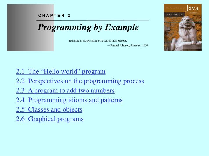 chapter 2 programming by example n.