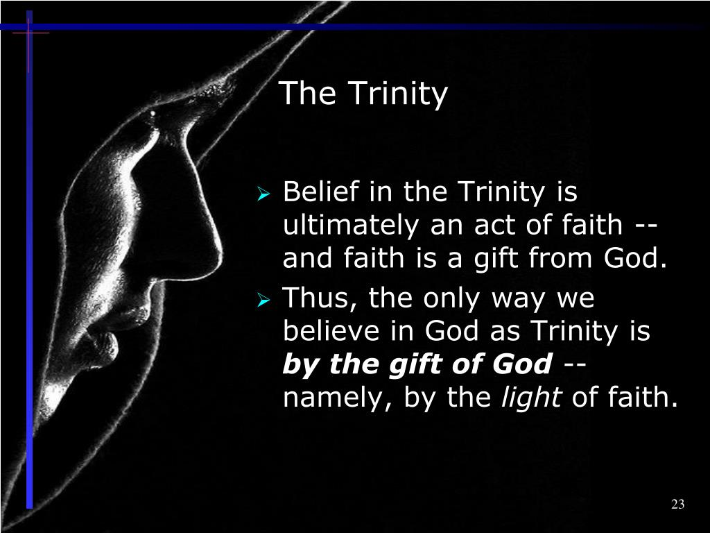 PPT - In Summary The Doctrine of the Holy Trinity PowerPoint