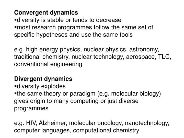 Convergent dynamics