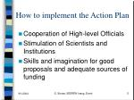 how to implement the action plan