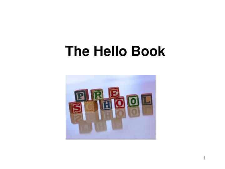 the hello book n.