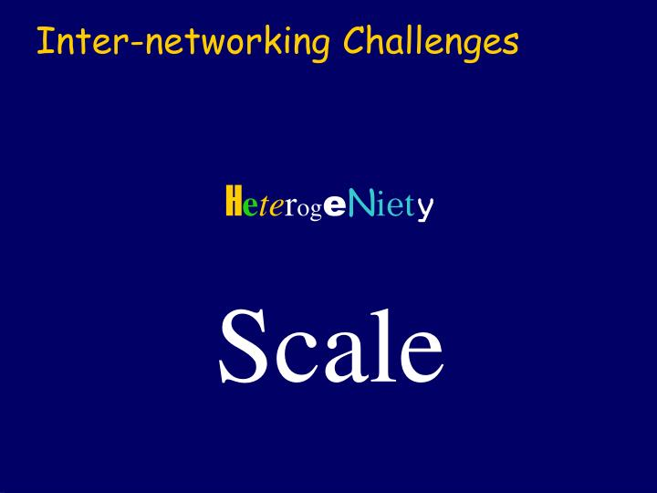 Inter networking challenges