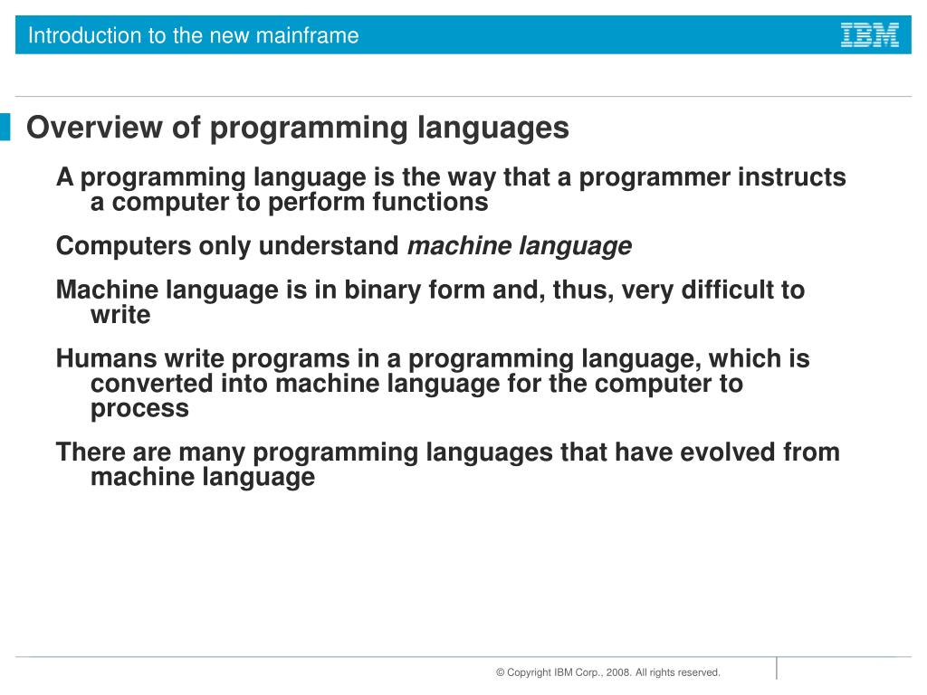 PPT - Chapter 10: Using programming languages on z/OS