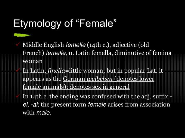 Etymology of female