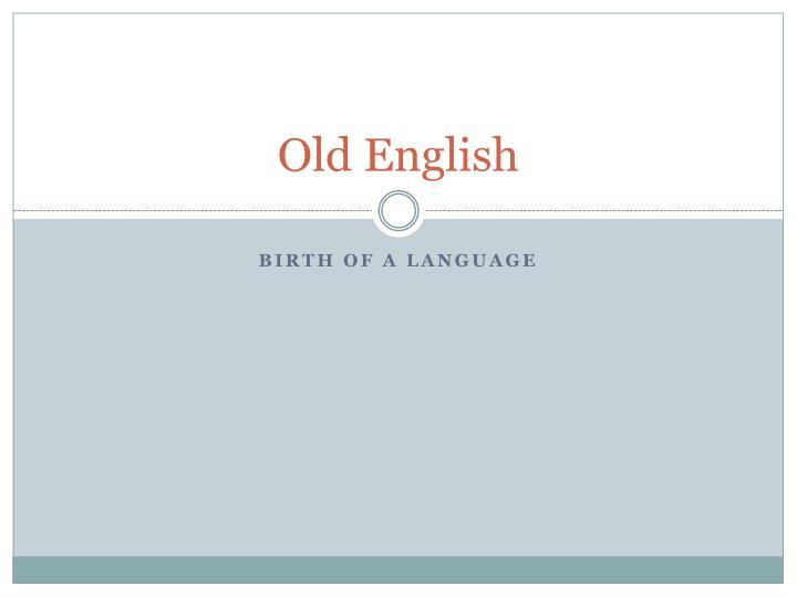 old english n.