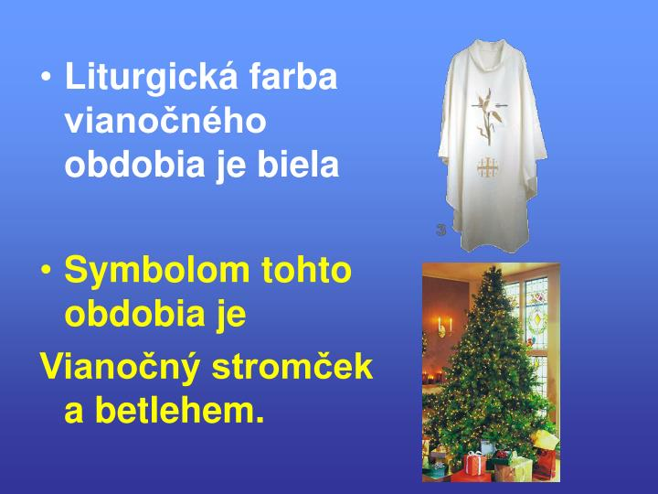 Liturgická farba vianočného obdobia