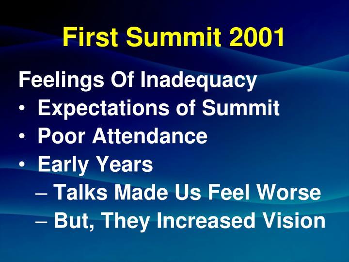 First summit 2001