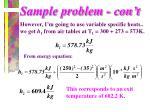 sample problem con t
