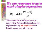 we can rearrange to get a much simpler expression